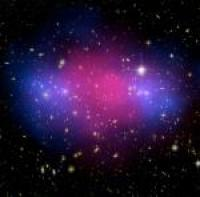 Collision of clusters from the Hubble Telescope and Chandra Observatory.