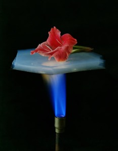 Silicon aerogel acting as an insulator