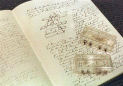 Jack Kilby's original notebook shows notes and the two original integrated circuits at Texas Instruments in Dallas, Texas in 2000. The computer chip industry on Friday celebrated the 50th birthday of the integrated circuit, a breakthrough that set the stage for the Internet and the Digital Age.