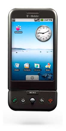 T-Mobile's G1 is the first phone that uses Google's Android operating system.