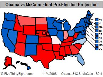 FiveThirtyEight projected