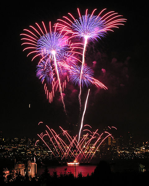 Fireworks in Seattle, WA, US